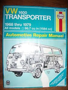 VW Transporter Haynes Workshop Manual 1600 Type 2 Soft Cover USA Crafers Adelaide Hills Preview