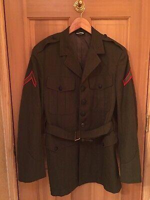 Authentic Genuine Vintage Mens Wool 40R Military Coat Jacket Costume Halloween