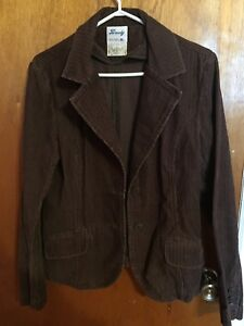 Woman's brown corduroy jacket