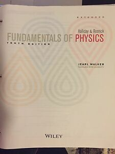 Fundamental of Physics, 10th edition, Halliday & Resnick Northmead Parramatta Area Preview