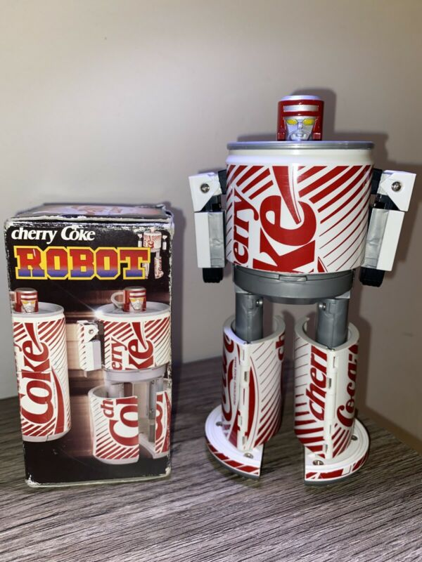 🍒Cherry Coca-Cola Robot White Red Japan Transformer Vintage🍒