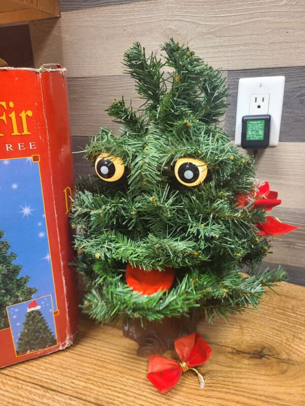 Gemmy 1996 Douglas The Talking Fir 2' Animated Singing Christmas Tree