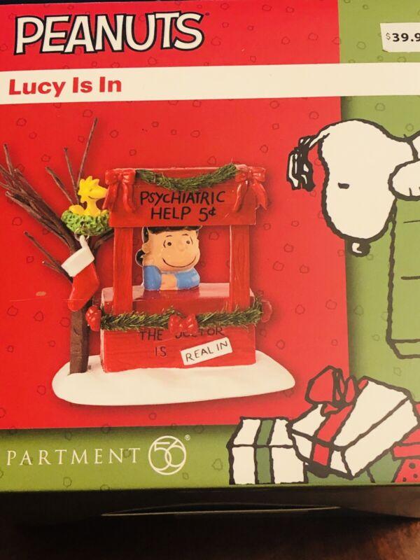 Dept 56 Peanuts Lucy Is In Figurine Psychiatric Help