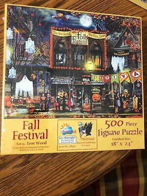 New Fall Festival SunsOut 500 Pc Halloween Jigsaw puzzle