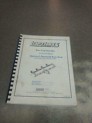 Loftness Row Crop Shredder Operators Parts Manual N14817