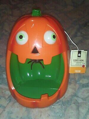Halloween Animated Pumpkin Candy Bowl, NWT