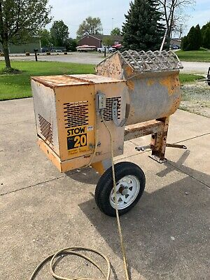 Stow Mortar Mixer M20e 8hp  Plus Extra Electric Motor And Cord