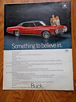 1970 Buick LeSabre Custom Ad  Quality Craftsmanship Integrity
