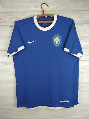 8566abb9 Brazil Brasil jersey large 2004 2005 away shirt soccer football Nike