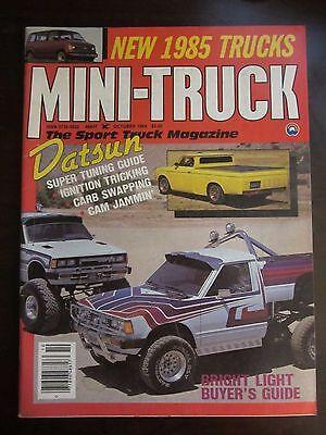 Mini Truck Magazine October 1984 Datsun Super Tuning Guide New 1985 Trucks (AY) Mini Truck Magazine