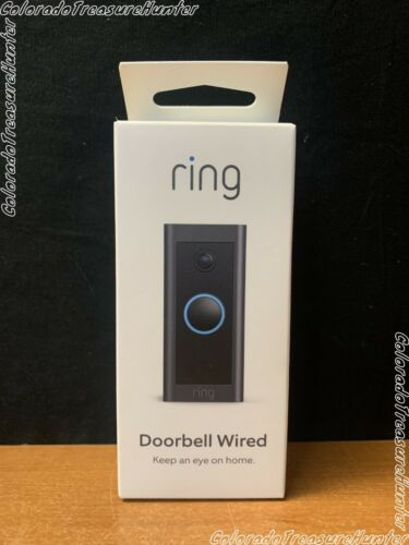 Ring Wi-Fi Video Doorbell Wired,  Black