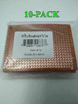 10-pack Breadboard Universal Printed Circuit Panel Board Prototype Pcb 5cm X 7cm