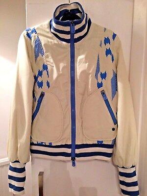 VINTAGE NEW £355 Diesel jacket coat zip front medium sports luxe 2001 60s 90s