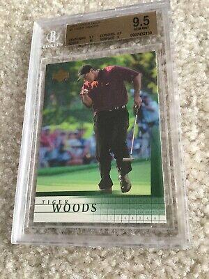 Tiger Woods 2001 Upper Deck Rookie Card BGS 9.5 inc a 10 Subgrade Lot G