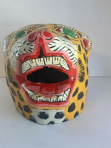Vintage Hand Made Paper Mache Chinese/Japanese Mask