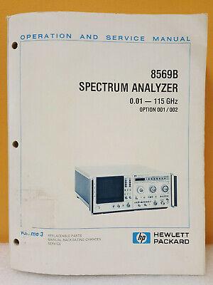 Hp Agilent 08569-90032 8569b Spectrum Analyzer Opssvc Manual Volume 3
