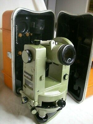 Pentax Gt-4b Glass Circle Transit Mechanical Theodolite Japan 30x Anallactic