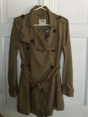 ABERCROMBIE & FITCH LIGHTWEIGHT TRENCH COAT 'LOOK' WOMENS SM NWT for sale  Shipping to Canada