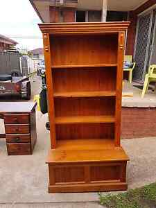 Timber bookcase & toybox combined Fairfield West Fairfield Area Preview