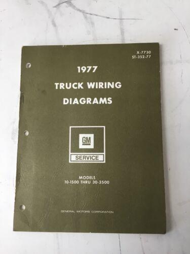 1977 GM TRUCK WIRING DIAGRAMS - MODELS 10-1500 THRU 30-3500 - ST-352-77