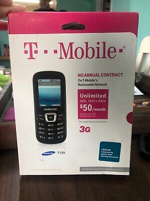 T-mobile 2014- Samsung T199 No-contract Cell Phone T199 3G Brand New Never Open