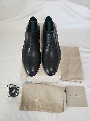 SANTONI Men's Black CapToe Oxfords Size 10D US/9.5UK