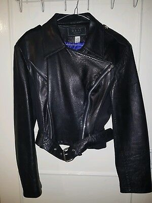 HELEN STOREY GENUINE LEATHER WOMAN BIKER JACKET SIZE S RRP £3500