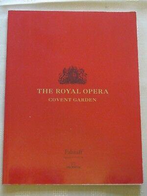 Royal Opera House Program / 06 DEC 1999 / FALSTAFF / BERNARD HAITINK