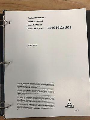 Deutz Bfm 1012 1013 Workshop Service Manual Air Cooled Diesel Engine Manual