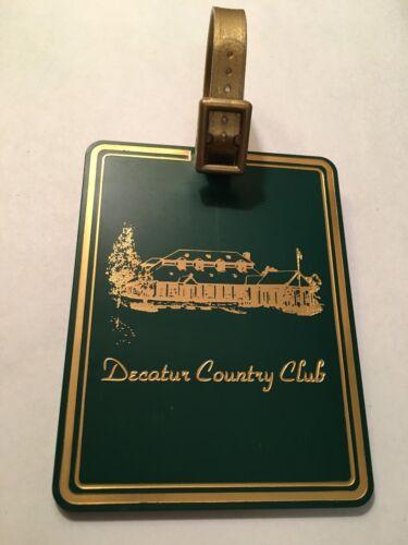 Vintage Rare Decatur Country Club Golf Bag Tag - Decatur, AL - Now Closed!