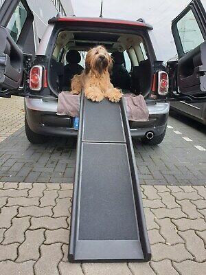 Tragbare Rampe (Auto Hunderampe klappbar, Kunststoff, Anti-Rutsch, 155 x 40 cm, max 90 kg 400280)