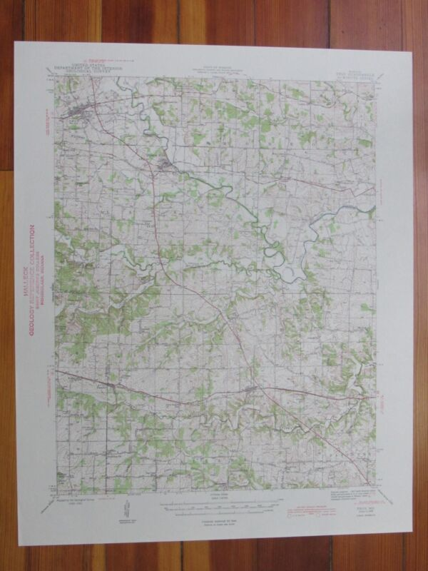 Troy Missouri 1945 Original Vintage USGS Topo Map