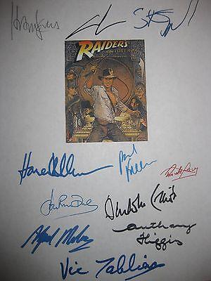 Indiana Jones Raiders of Lost Ark signed script X11 Harrison Ford Speilberg rpnt