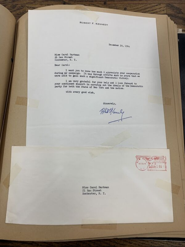 ROBERT F. KENNEDY AUTOPEN CAMPAIGN LETTER SIGNED RFK Vintage
