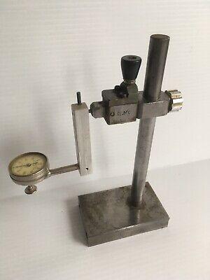 Starrett Dial Test Indicator No 196 Jeweled .001 With Custom Stand Machinist