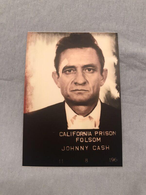 "JOHNNY CASH VINYL Decal/Sticker FOLSOM  PRISON ""MUGSHOT"" 1966 *UNIQUE* Novelty"