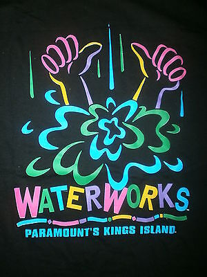 vtg 80s 90s KINGS ISLAND WATERWORKS T SHIRT Soak City Boomerang Bay Water Park L