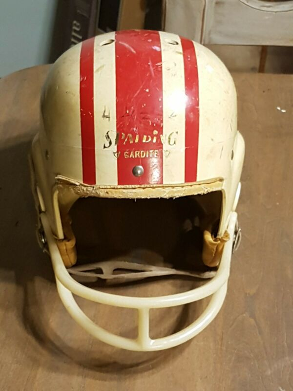 Vintage 1960s Spalding Gardite Football Helmet-62-491-Small-Chin Strap