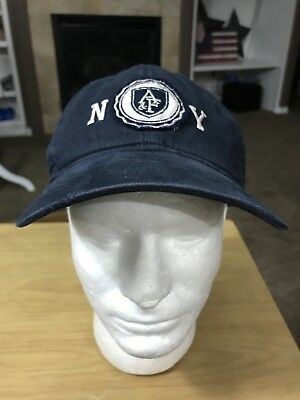 Abercrombie And Fitch AF New York NY Blue Baseball Cap Hat