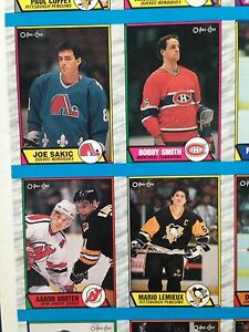 1989/90 O-Pee-Chee OPC Hockey Uncut Sheets Complete Set Stratford Kitchener Area image 7