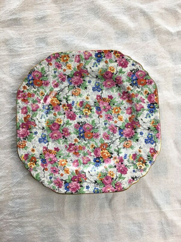 """Vintage Lord Nelson Ware Marina Chintz 7 1/2"""" Plate"""