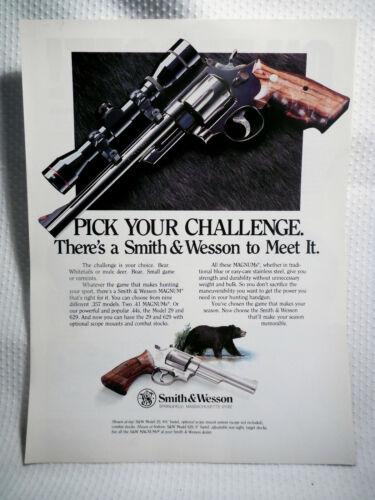 SMITH & WESSON ~ PICK YOUR CHALLENGE ~ ORIGINAL MAGAZINE ADVERTISEMENT PAGE