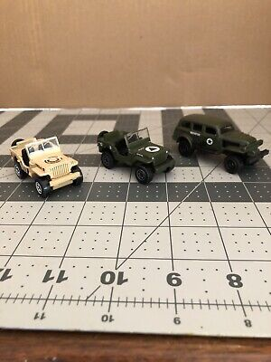Hot Wheels - Matchbox Military Jeeps And Truck Lot