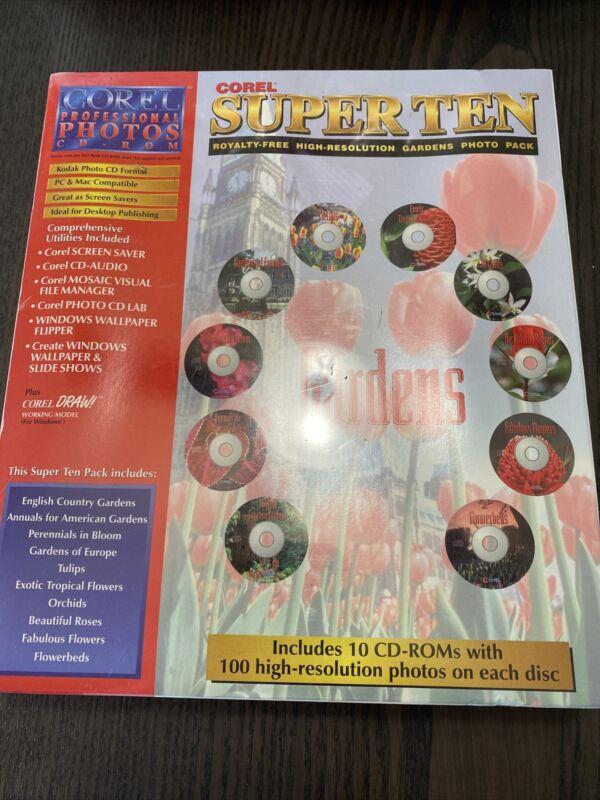 1996 COREL SUPER TEN Royalty-Free Hi Res TEXTURES Photo Pack 10 CDs PC Macintosh