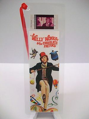 WILLY WONKA Movie Film Cell Bookmark Collectible Compliments poster dvd