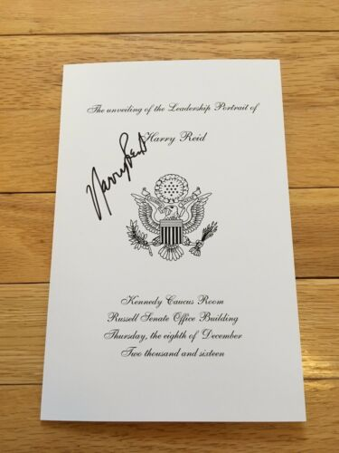 "HISTORIC SIGNED ""Official Senate Portrait Dedication PGM"" - Senator. Harry Reid"
