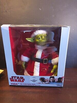 Star Wars Yoda Wearing a Santa Claus Suit Christmas Tree Topper Decoration