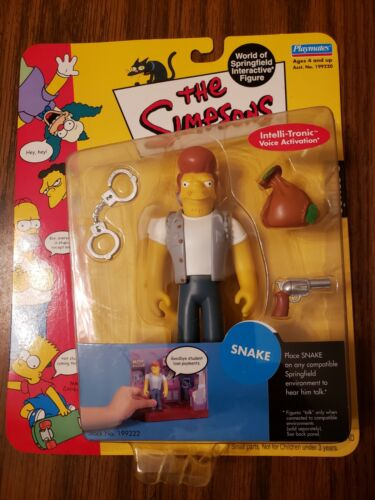 """The Simpsons """"Snake"""" Action Figure 199222 Series 6 2001"""