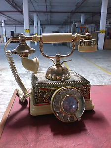Old gold brass telephone Heidelberg Banyule Area Preview