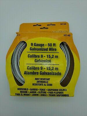Ook 50140 50 9 Gauge Galvanized Steel Hobby Wire No.50140